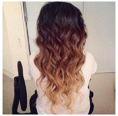 Ombré hair // Curly
