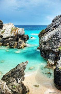 Blue Bermuda water