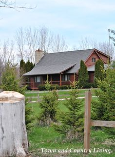 Always love the look of log homes.  This one is in Kane County, Illinois