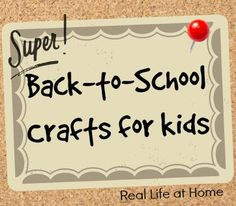 back to school crafts for kids - RealLifeAtHome.com