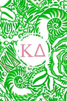 Kappa delta Lilly monogram iPhone background
