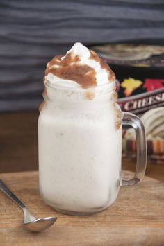 Maple Apple Butter Milkshakes | Wishes and Dishes