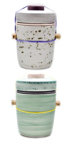 Ceramic Jars by Ben Fiess.  http://lonnymag.com/issues/43-lonny-october-2012/pages/1#p10