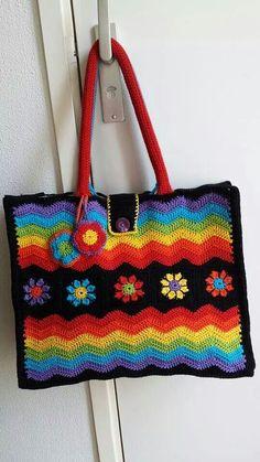tas pimpen, gehaakt tassen, crochet bag