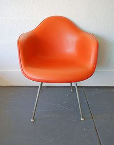 MId Century Herman Miller Orange Chair by junk2funkbiz on Etsy, $615.00