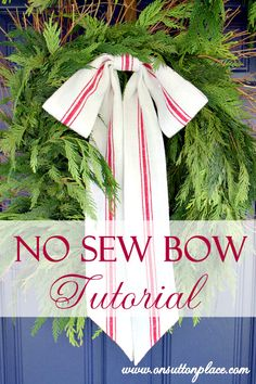 Step by step guide for making the perfect bow ~ and no sewing required!