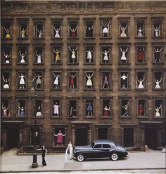 models in window, ny, 1960