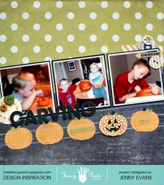 Carving Pumpkins *Fancy Pants Designs* - Scrapbook.com