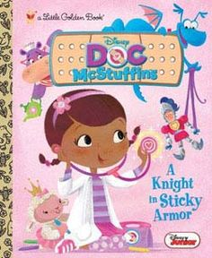 A Knight in Sticky Armor Little Golden Book (Hardcover)