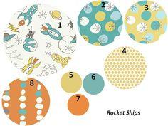 Love love love this! Baby Boy Crib Bedding Organic Rocket Ships by JujuBelleDesigns, $180.00