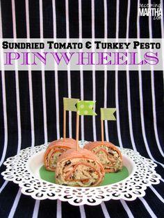 "sundried tomato turkey pesto pinwheels, perfect for a home ""tailgating"" party! #cbias #shop"