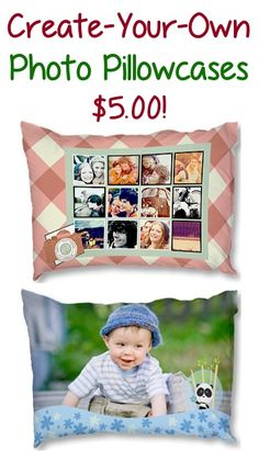 Create-Your-Own Photo Pillowcases for 5.00! {+ s/h} ~  these make such fun gifts to give, too! #photo #pillowcases