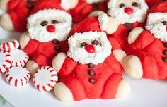 Roly Poly Santa Cookies from Sugar and Charm holiday recip, christmas recipes, food, yummi, santa cooki, cookies, christma recip, dessert