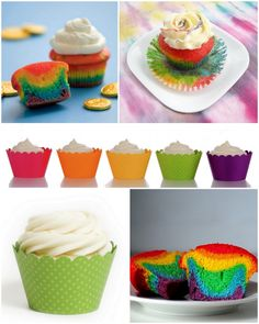 Taste the Rainbow Cupcakes for St. Patrick's Day!