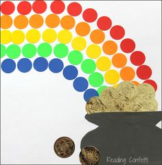 Easy craft for kids: Rainbow and Pot of Gold for St. Patrick's Day