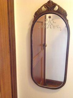 Vintage Nurre Maestro Etched Art Deco Barbola Mirror