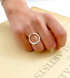 Love this. :: Oval Sterling Silver Ring by Mawadda A