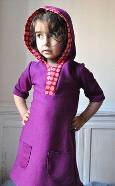 My hoodie dress - PDF pattern- 18m to 5T- Easy sewing
