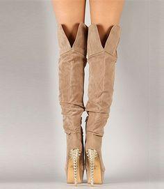 Ivory Coast Knee High Studded Boots