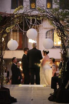 wedding arch. like this but ivory branches