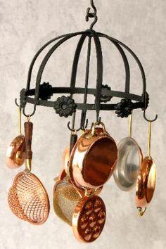 J. Getzan Dollhouse Miniature Copperware Miniature Copper Pots Pans