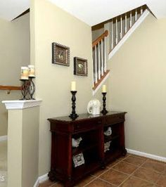 Foyer Paint Color: Sherwin Williams Distant Tan