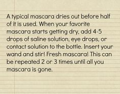 mascara tip! No more drying out mascara!