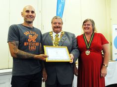 ASHBOURNE Mayor, Steve Bull has presented a series of awards at a special evening marking his term as Mayor last year.
