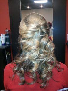 wedding hair back