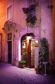 evening in rome,italy