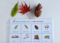 Hiking Scavenger Hunt Printable for Kids - Make and Takes