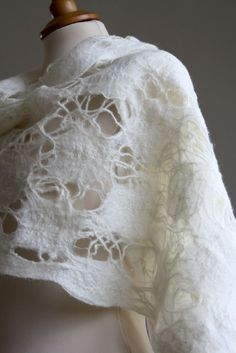 'lace' felted wool wrap