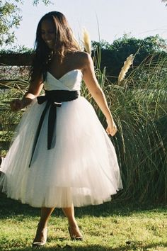 pretty tulle dress.