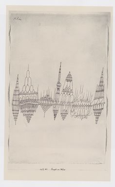 Temples by the Water, 1927 by Paul Klee.