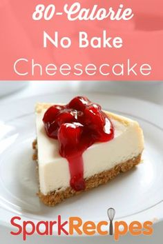 No Bake Graham Cracker Cheesycake Recipe | via @SparkPeople #food #recipe #dessert #diet #easy