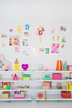 Studio DIY storage areas