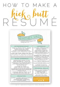 How to make a resume; but really, this girl knows her stuff.