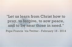 Let´s pray to the Holy Spirit! He always listens to us! Read more at: www.twitter.com/pontifex
