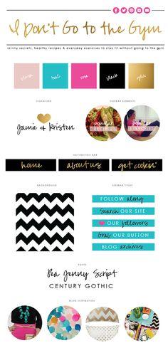 I DON'T GO TO THE GYM Blog Design