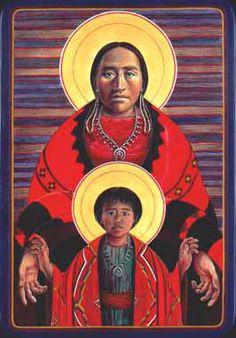 Navajo virgin and child