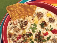 zesty fiesta sausage dip