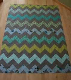 zig zag quilt WITHOUT triangles! :)