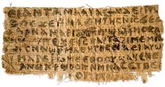 A historian of early Christianity at Harvard Divinity School has identified a papyrus fragment in Coptic that she says contains the first known statement saying explicitly that Jesus was married. The fragment also refers to a female disciple.