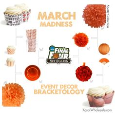 March Madness! Event Decor Bracketology   Sporting Event Decor Inspiration from Koyal Wholesale, created by koyalwholesale