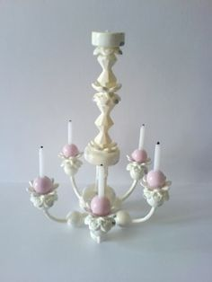 how to: chandelier (not a full tutorial, but photos give a good idea of how lamp was made)