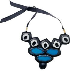 Geometric or ethnic touch bib necklace