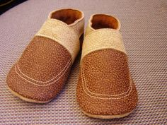 Sewing Soft Leather Baby Shoes -  tutorial, no pattern