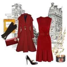 Beautiful red dress and coat - perfect for Valentine's Day