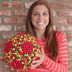 Skittle Soccer Ball Centerpiece