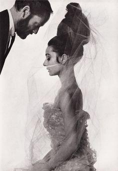 Audrey Hepburn and Mel Ferrer by Bert Stern 1963